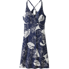 Patagonia W's Amber Dawn Dress Valley Flora: Classic Navy/Birch White